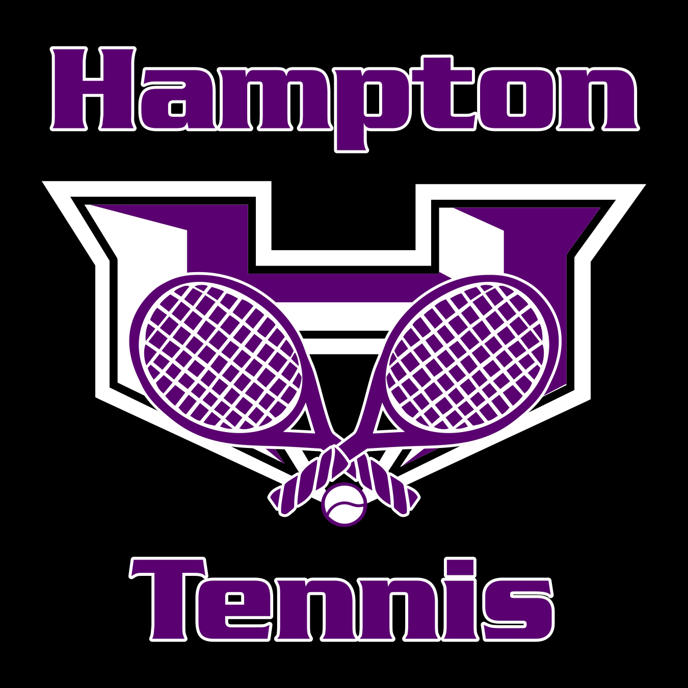 hampton tennis t-shirt design