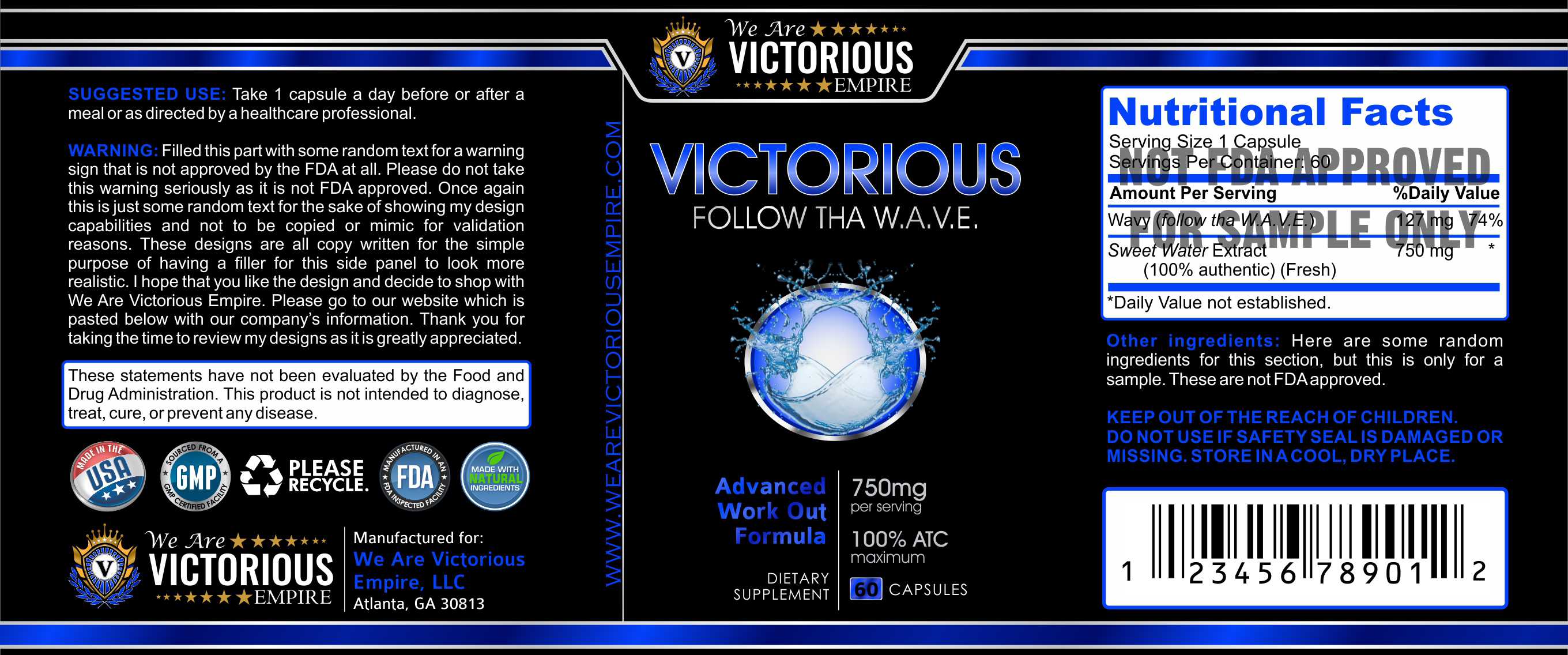 we are victorious label design